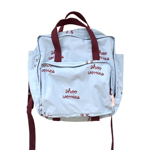[30%]shoo worries backpacklight blue/bordeaux