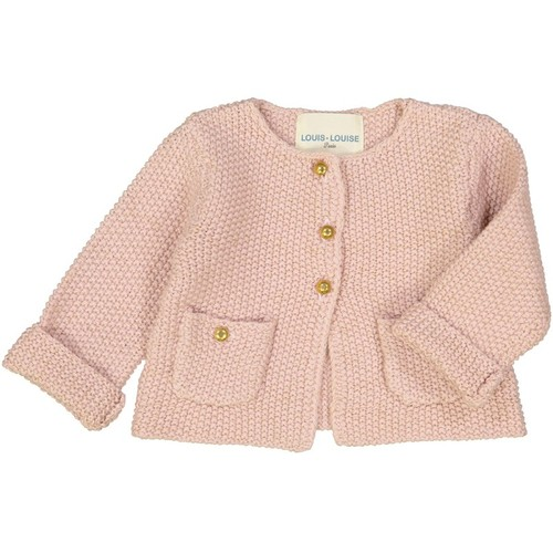 [30%]BABY CARDIGAN CATHY PINK WOOL LUREX KNITTED