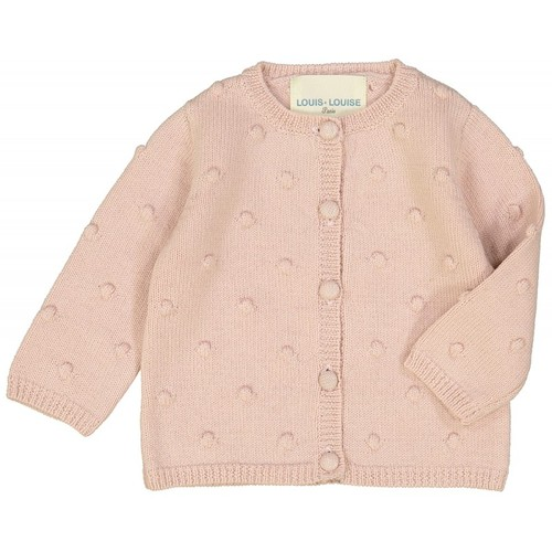 [30%]BABY CARDIGAN GRELOT PINK WOOL FANTASY KNITTED