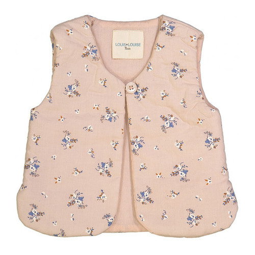 [30%]BABY CARDIGAN HIVER  PINK COTTON FLOWERS