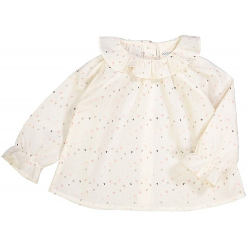 J[50%]Baby TUNIC LILIE - CREAM COTTON HEART