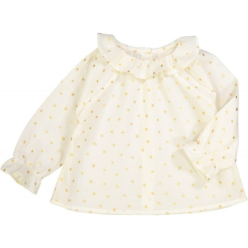 [30%]Baby TUNIC LILIE  CREAM COTTON GOLD DOTS