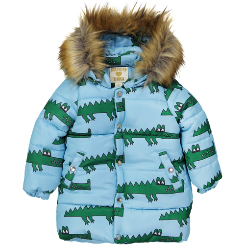 Winter Coat -Blue Crocodile