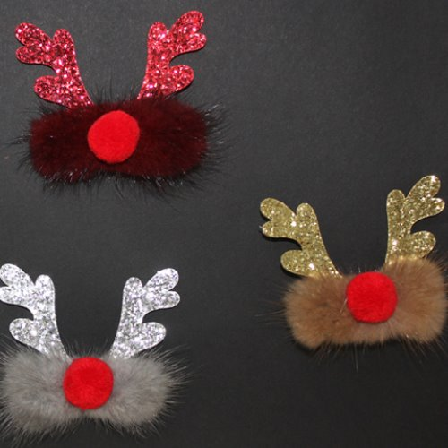 Mink Rudolph Hairclip (3 colors)