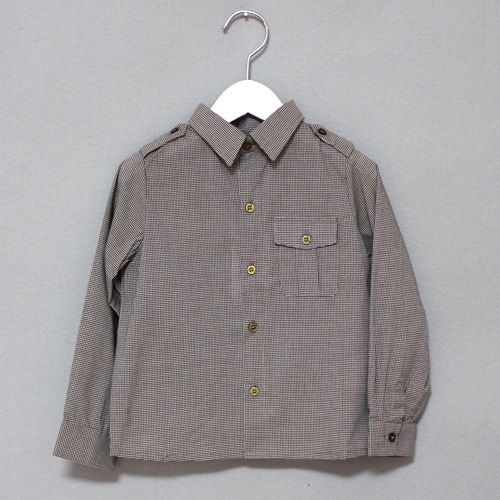 [균일]Bass shirt-brown