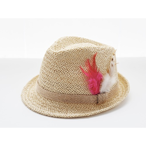 [30%]Feather Hat-Fuchsia