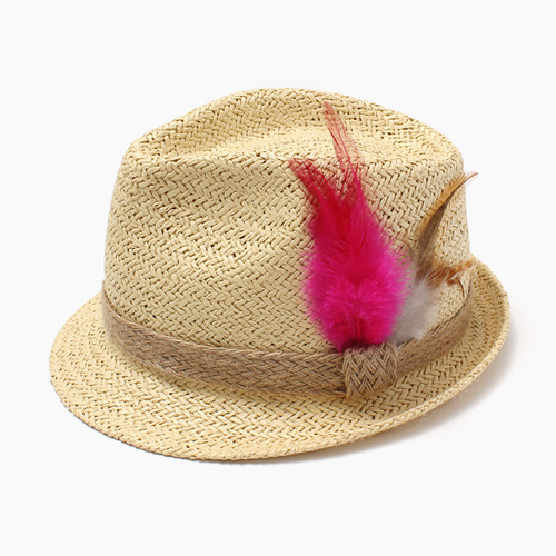 [30%]Feather Hat-fuscia